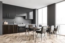 Gray Kitchen Corner With Cupbo...