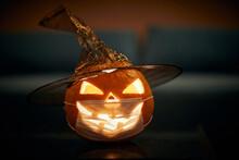 Halloween Pumpkin With A Carve...