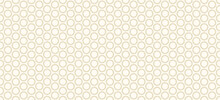 Background Pattern Seamless Geometric Circle Double Line Abstract Gold Luxury Color Vector. Christmas Background.