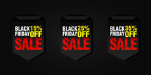 Black Friday Set Of Sale Badge...