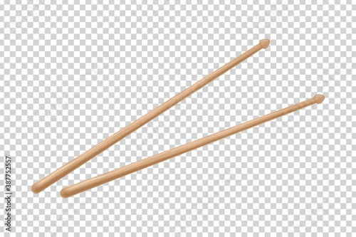 Papel de parede Vector realistic isolated drumsticks on the transparent background