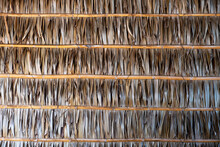 Wall And Roof Bamboo Leaves An...