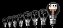 Light Bulbs With New Year 2021