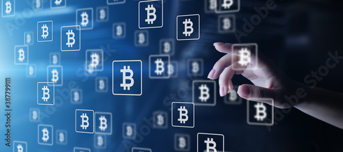 Bitcoin cryptocurrency trading and investment concept Fototapet