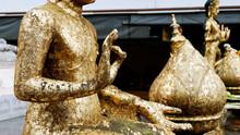 A Part Of Golden Buddha Statue...