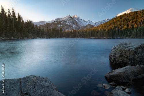 The Morning sunrise Bear Lake in Rocky Mountain National Park