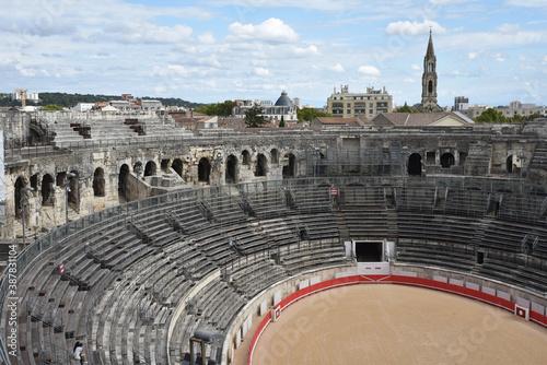 Valokuvatapetti Amphithéâtre romain à Nîmes, France