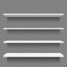 Shelf. White Empty Shelf Shelv...