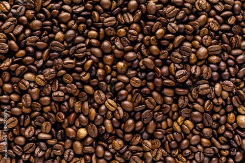 Fresh roasted coffee bean background Canvas