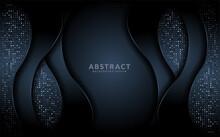 Modern Dark Background With Overlap Texture Layer Design.