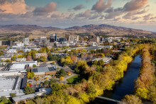 Boise River The Skyline With M...