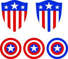 Captain America Shield Sign Icon Vector