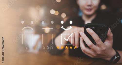Foto Customer satisfaction concept