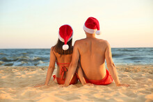 Lovely Couple With Santa Hats ...