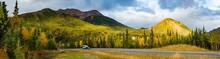 Scenic View Of Camper RV Drivi...