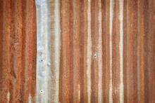 Wall Rusty Corrugated Iron Met...