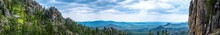 Panoramic HDR View Of Needles Highway .Cathedral Spires In The Black Hills Of South Dakota