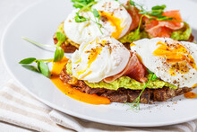 Toast With Salmon, Poached Egg...