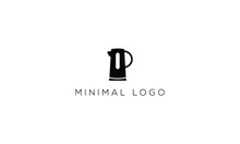 Teapot Kettle Abstract Minimalist Creative Vector Logo Design Template.