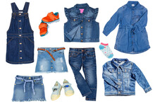 Collection Jeans Clothes On Wh...