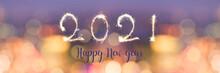 Happy New Year 2021 Written Wi...