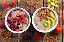 Chia Pudding With Fruits And Cereals