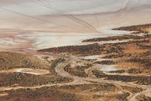Aerial View Of Salt Lake Textu...