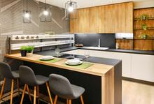 Modern Fitted Kitchen Interior...
