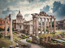 Roman Forum In Bad Weather
