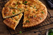 Pie Or Tart With Feta Cheese O...
