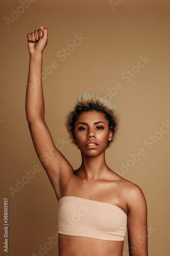 Valokuva Powerful african american woman