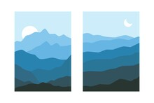 Abstract Landscape Posters. Bo...