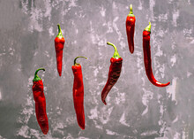 Fresh Chili Peppers Of Red Col...