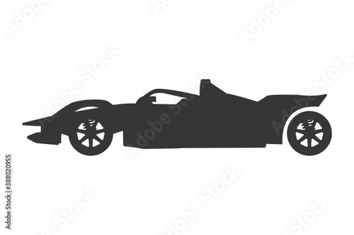 Sports car. F1 Flat Icon. Mobile applications and print media Canvas-taulu