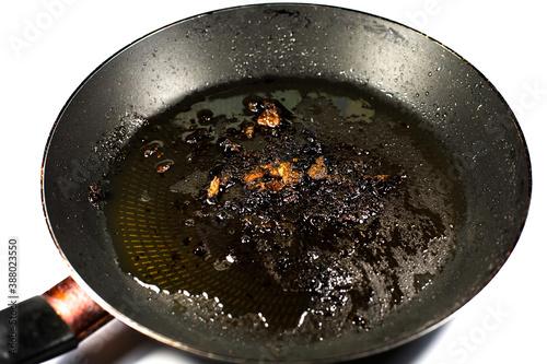 Cuadros en Lienzo Burnt pan with oil