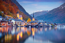 Hallstatt, Austria. Cityscape ...