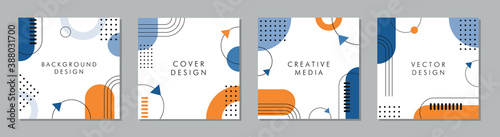 Obraz Trendy abstract square template with geometric concept. Able to use for social media posts, mobile apps, banners design, web or internet ads. - fototapety do salonu