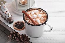 Mug Of Hot Chocolate With Mars...