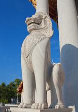 Guardian Lion At Wat Benchamab...