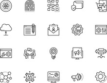 Technology Vector Icon Set Such As: Algorithm, Cloud, Wireless, Dna, Brain, Big, Delete, Phone, Glass, Market, Light, Discussion, Threat, Job, Folder, Analytics, Blog, Aircraft, Search, Attack