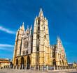 The Santa Maria Cathedral of Astorga in Spain on the Camino de Santiago