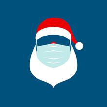 Quadrat Abstrakter Weihnachtsmann Maske Rot Weiß Blau