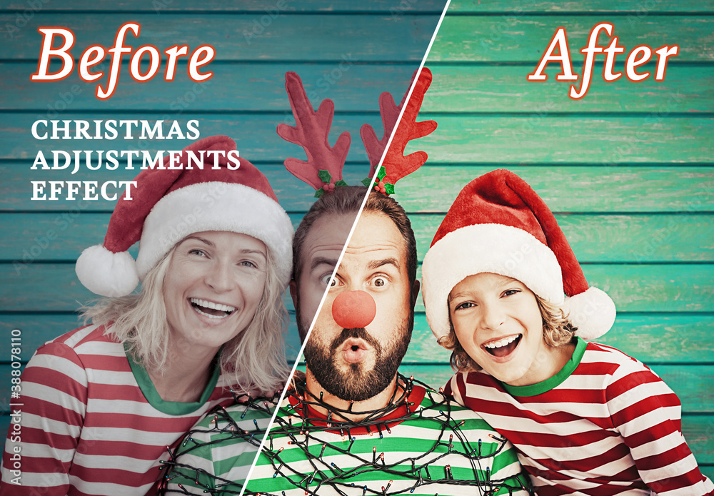 Fototapeta Christmas Photo Effect