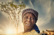 canvas print picture - old African woman