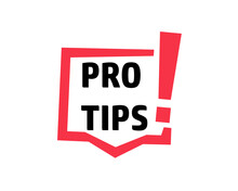 Pro Tips Sign Icon. Clipart Image Isolated On White Background.