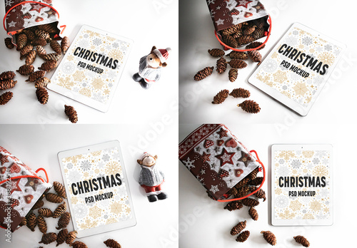 Obraz 4 Christmas Device Mockups - fototapety do salonu