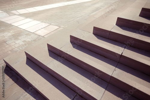 stairs city Milan Canvas Print