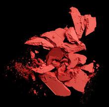 Crushed Blush Isolated On Black Background