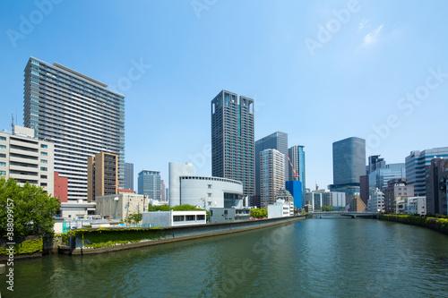 大阪中之島の都市風景 © Paylessimages