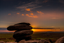 Autumn Sunset At The Cheesewring, Bodmin Moor, Cornwall